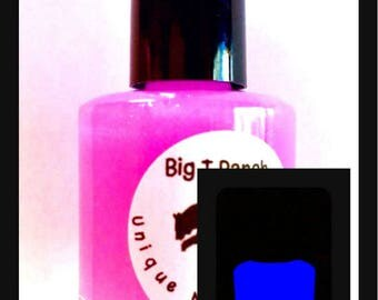 Glow-in-the-Dark Nail Polish - Lavender Glows Purple - PLUTO - Custom Blended Nail Polish - Regular Full Sized Bottle (15 ml size)