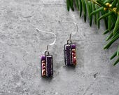 Perfectly Pink Dichroic Glass Earrings