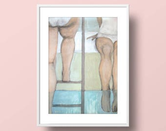 Swimming Pool - Giclee Print // watercolor, painting, summer, home decor, gifts under 20, fine art, bathroom art, bedroom decor