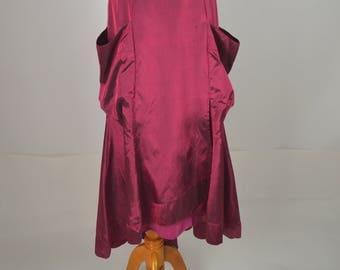 Holiday Skirt, Victorian Style, Long Skirt, Maxi Skirt, Christmas Skirt, Burgundy Skirt,  Steam Punk, Victorian Style Skirts