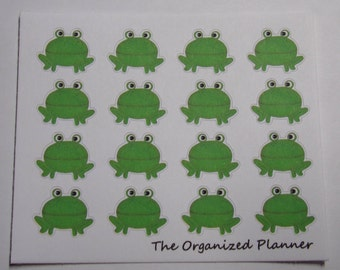 16 Frog Stickers / Cute Stickers / Planner Stickers