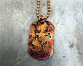 Stamped Dog Tag - Copper Dog Tag - Butterfly - Handmade - One of a kind - Dog Tag - Hand Stamped - Rustic Dog Tag - Boho - Hippie Style