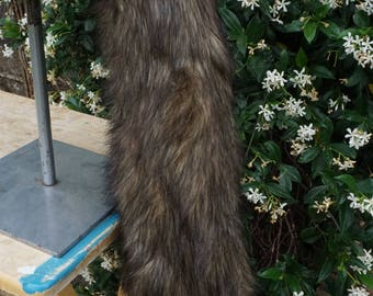 Long Tipped Brown Wolf Tail