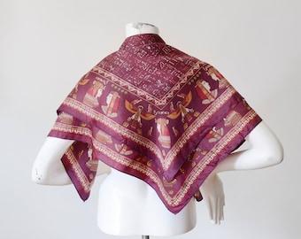 Vintage Purple Egyptian Scarf