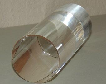 5 inch Glass Cylinder Mid Century Modern