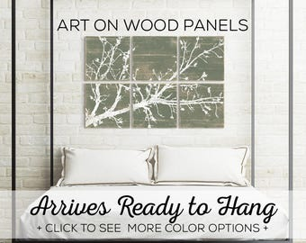 Cherry Blossom - Nature Inspired - Olive Branch Art - Rustic Home Decor - Rustic Tree Wall Art - Tree Branches - Branch Wall Art - Tree Art