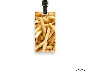 Luggage Tag French Fry Luggage Tag Personalized Luggage Tag -Single Tag  Fries Junk Food Funny