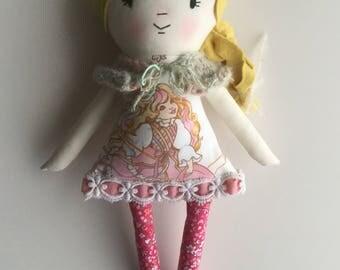 80s Rag Doll Cloth Doll Handmade Doll Vintage Fabric Lady Lovelylocks