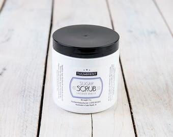 Lavender Vanilla Sugar Scrub | Emulsified Sugar Scrub | Exfoliating Scrub | 9 oz Jar