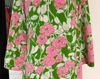 Vintage 1970s Lilly Pulitzer Floral Tunic With Pants