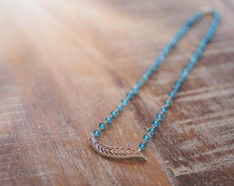 Feather London Blue Topaz Necklace