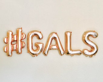 Galentines Day, Galentines Balloons, Galentines, Galentines Party, #Gals, Galentine Banners, Galentine Balloon Letters, Rose Gold Galentines