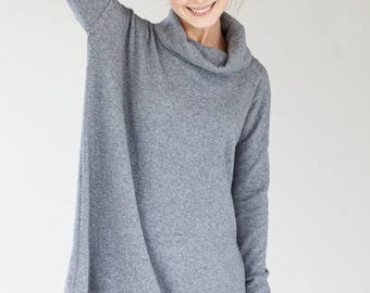 SALE - Oversized dress | Grey dress | Woolen dress | LeMuse oversized dress