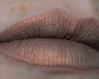 CIDER Matte Metallic Liquid Lipstick Bronze Shade