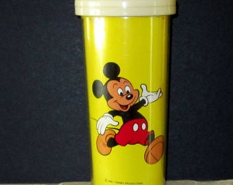 MICKEY MOUSE Thermal Travel Tumbler Walt Disney Productions Made in Hong Kong
