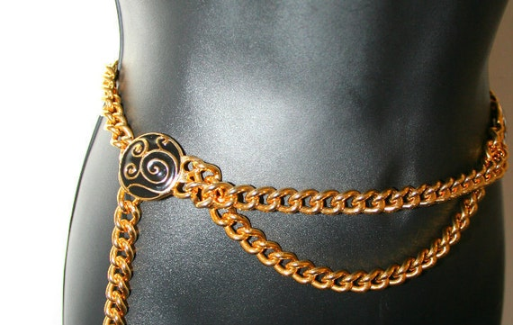 Doncaster Belt Gold Drop Chain Chic Size Small/ Gold Chain Belt