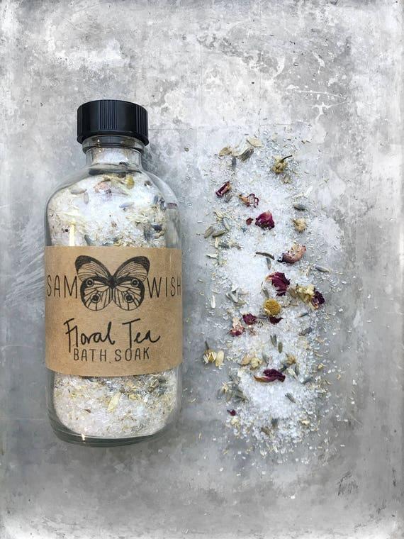 Floral Tea Bath Soak // Organic
