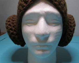 Star Wars Inspired Princess Leia Crocheted Wig/Hat Adult Sized READY TO SHIP
