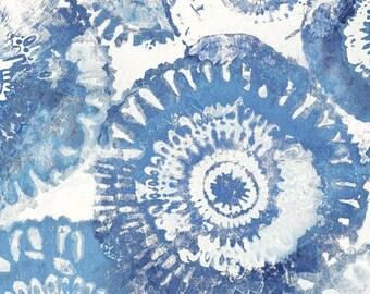 Sun Circles Light Blue, Geometric Fabric