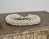 Chainmaille Japanese 4 in 1 Silver Bracelet - Sterling Plated Bracelet - Bold Statement Bracelet - By BALOOS STUDIO