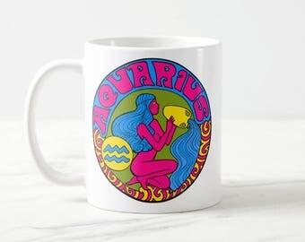 Aquarius Birthday Gift... Aquarius... Zodiac Gift... Aquarius Gift... Astrology Gift... Coworker Gift... Co Worker Gift... Birthday Mug