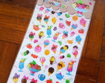 Ice Cream sticker, Dessert sticker, Sundae sticker, Icecream sticker, Epoxy sticker, Food sticker, Ice-cream sticker, Clear sticker