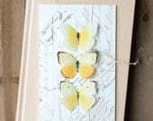 LIMITED QUANTITY butterfly collection . yellow silk butterflies . hair clips, pins, magnets . realistic gifts wedding, bridesmaids