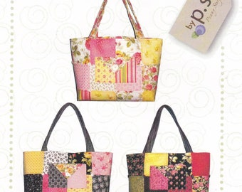 Charm Party Tote Designed by Penny Sturges Pattern Leaflet Purse Bag Sewing Craft Project Quilted