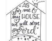 As for me and my house coloring page