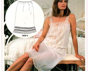 Margaret Pierce MP 107 Womens Half Slip French Hand Sewing Heirloom Sewing Pattern Size 8 - 16 UNCUT Factory Folds