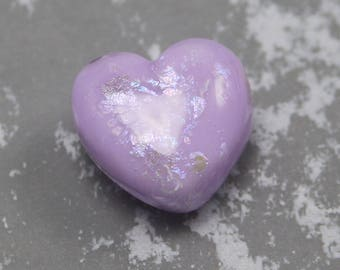 Glittered Rapunzel Lampworked Heart Focal Bead
