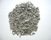 Mixed Lot, Pewter Beads, Pewter Bead Assortment, Stash Pewter Beads, Silver Pewter Beads, Destash, Pewter Spacers, Pewter Filigree