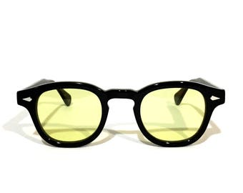 The Quality Mending Co. The Causeway Glasses - Black x Yellow