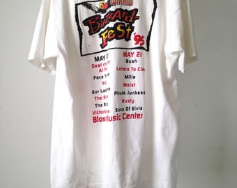vintage BUSH Face to FACE pop punk post grunge MUSIC festival tour shirt Cleveland Buzzardfest 1995 white t-shirt