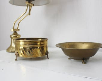 Brass Footed Planters