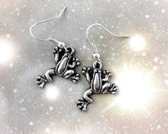 Sterling Silver Tree Frog Earrings