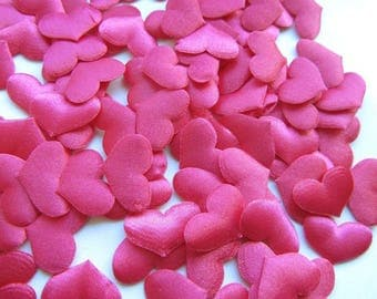 100 pcs Purple Heart Confetti Wedding decoration confetti padded hearts fabric hearts Heart Petals Engagement Confetti Table Decoration