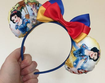 Snow White inspired Mickey/Minnie Disney ears