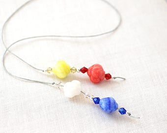 Book Lover Gift Colorful Flower Glass Beaded Bookmark Thong String Gift For Reader Librarian Teacher Gift Bookmark Gardening gift for her