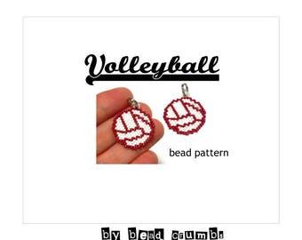 Volleyball Beading Pattern, Brick Stitch Bead Weaving