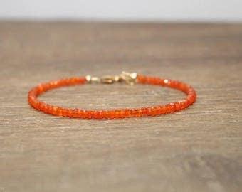 Carnelian Bracelet, Carnelian Jewelry, Stacking, Bracelets for Her. Gemstone Jewelry, Gifts