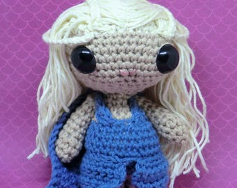 Danenerys Targaryen amigurumi style PDF crochet pattern inspired by Game of thrones