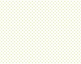 Lime Green Polka Dot Fabric - Riley Blake Swiss Dot Fabric - Lime Green Dot Fabric - Dot Quilting Fabric By The 1/2 Yard