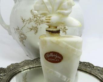 D'Orsay Belle De Jour Perfume Bottle, Chalk White Glass, France, Art Deco