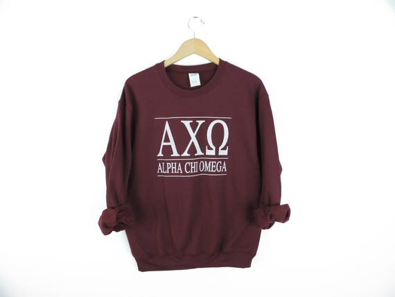 New Chi Omega Stripe Crewneck Sweatshirt // Size S-3XL // You Pick Color 4r8ac2LgT