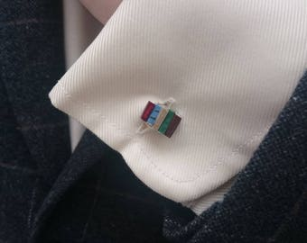 Stack of Book Cufflinks - Made to Order - Book Jewelry by Coryographies
