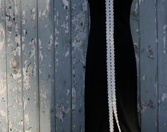 Black Silver Sleeveless Evening Dress Size M