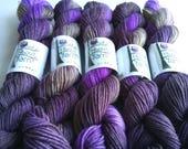 Peaceful hand dyed merino/nylon fingering/4ply/sock yarn 20g miniskeins
