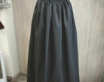 Custom Elegant Gothic Lolita Taffeta Long Skirt, Steampunk, Victorian Skirt, Mourning, Custom Size and Color, Pluz size