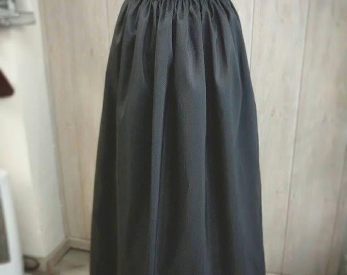 Custom Elegant Gothic Lolita Taffeta Long Skirt